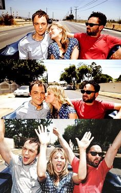 Jim Parsons Kaley Cuoco and Johnny Galecki