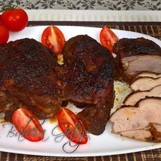 Pieczony Udziec z Indyka w naczyniu żaroodpornym Steak, Pork, Easy Meals, Kale Stir Fry, Steaks, Pork Chops