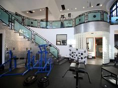 The home includes a two-story state-of-the-art workout facility outfitted with a full spectrum of pro-level exercise equipment.