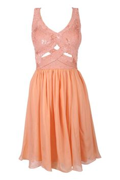 like the cut outs - adds a little spice to the oh so nice peachy pink of this dress