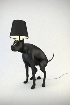 Good Dog -pooping dog lamp (by What Is His Name)