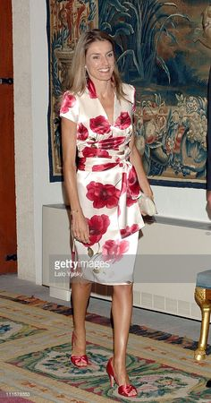 Princess Letizia during Spanish Royals attend the Traditional Summer Holidays End Dinner at Almudaina Palace in Palma de Mallorca, Balearic Islands, Spain. August 2006