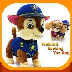 산책 짖는 장난감 개 로봇 뮤지컬 대화 형 장난감 개 전기 애완 동물 봉제 강아지 장난감 산책 짖는 배터리 개 장난감
