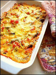 a dream . Greek Cooking, Dinner With Friends, Calzone, Weight Watchers Meals, Greek Recipes, Diy Food, Lasagna, Quiche, Veggies