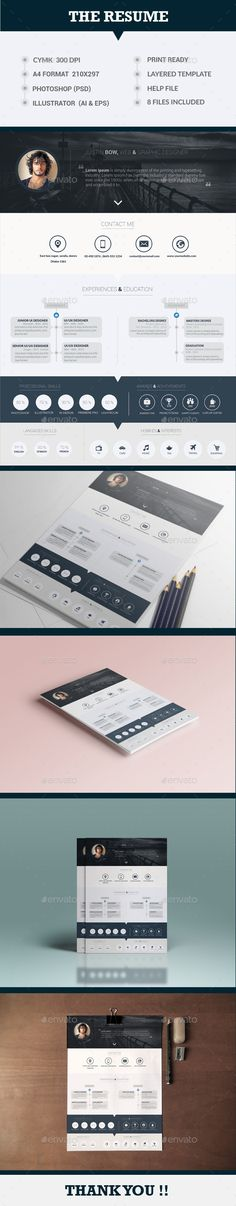 The Awesome Resume Template #design Download: http://graphicriver.net/item/the-awesome-resume/13432146?ref=ksioks