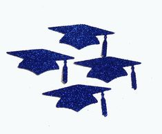 Graduation Glitter Confetti - Graduation Cap Confetti - Sparkly Graduation Confetti - Glitter Party Confetti -  Party Supplies