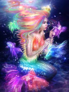 Beautiful mermaids pictures - Hot sexy mermaid pictures posts beautiful mermaid art from many different mermaid artists. Real Mermaids, Fantasy Mermaids, Mermaids And Mermen, Fantasy Kunst, Fantasy Art, Mermaid Fairy, Mermaid Gifs, Manga Mermaid, Merfolk