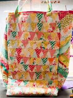 Patchwork Insulated Grocery Bag | The Quilting Room with Mel | Bloglovin'