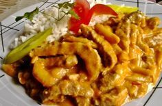 Temesvári sertéstokány | Receptkirály.hu Hungarian Recipes, Hungarian Food, Pork Dishes, Meat Recipes, Bacon, Food And Drink, Beef, Chicken, Cooking