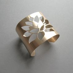 Lotus Brushed Bronze Cuff. by KaStJewelry #fashion