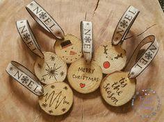 CHRISTMAS decorations Tree decorations rustic christmas