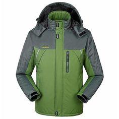 47b8dd05be1 Lance Donovan Brand Unisex Autumn Down Filled Hooded Jacket Plus Size  Windbreaker Waterproof Men S Coat Ln1588. Mens Ski CoatsMen s JacketsWinter  ...