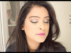 Glittery Silver Eyes and Bright Pink Lips | Easy Party Makeup Tutorial