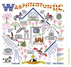 POW WOW DC Mural Map Washington dc Street art and Street