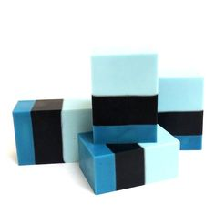 Simple, yet creative blue soap design by Steso