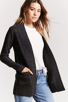 Product Name:Marled Knit Open-Front Cardigan, Category:sweater, Price:15.9