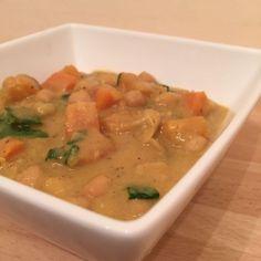 Curry de pois chiche au potiron et aux épinards (au lait de coco)