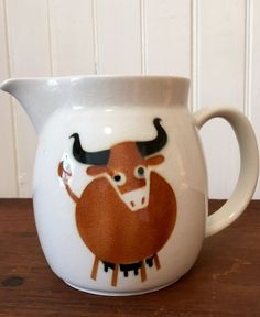 Adorable Arabia of Finland cow design pitcher, in very good condition! by HappyCreekFarm on Etsy