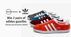 Shopological is giving away 2 pairs of must-have adidas Gazelle trainers. I've entered and you should try your luck too!