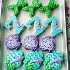 Some bday cookies for a cutie turning 7. Cutters by @trulymadplastics #decoratedcookies #turlock