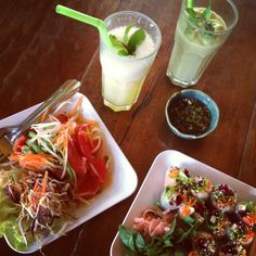 Vegetarian dumplings that meat eater become addicted to are a rare and beautiful thing! Stir fried kale and refreshing lemon-mint sodas make this place the perfect city refuel station on a hot day in Chiang Mai.