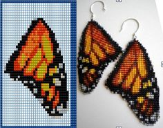 Seed Bead Crafts, Seed Bead Jewelry, Bead Jewellery, Beaded Ornament Covers, Beaded Ornaments, Inkle Weaving, Bead Weaving, Beaded Earrings Patterns, Beading Patterns