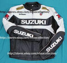 Custom Handmade Suzuki Rocket Motorcycle Biker Leather Jacket #Handmade