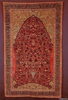 Pashmina Carpet with Gateway-and-Millefleur Pattern, 18th c. North india