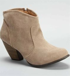 Suede Taupe Ankle Booties// been wanting a cute pair of short boots like these! #windsorstore #taralynn