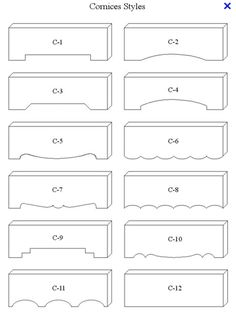 cornice box styles - for dad