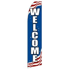 NeoPlex Welcome Patriot Vertical Flag