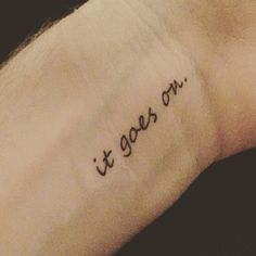 """""""In three words I can sum up everything I've learned about life: it goes on."""" -Robert Frost @momentary_ink #momentaryink #tattoogoals #inspiration"""