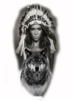Taino Indian Tattoos - The Timeless Style of Native American Art - Tattoo Shops Near Me Local Directory Native American Tattoos, Native Tattoos, Native American Images, Native American Beauty, Wolf Tattoos, Native American Indians, Girl Tattoos, Tattoos For Guys, Wolf Tattoo Sleeve