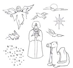 christmas goodnight activities giveaway - Nativity Character Coloring Pages