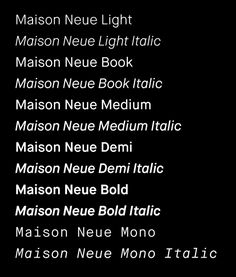 Maison Neue occupies an interesting space for a Grotesque. Adapted from an earlier design, Maison, this release balances the ideals of its idiosyncratic source with considerations of harmony and fl...