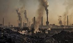 A highly polluting steel factory in Inner Mongolia, China.