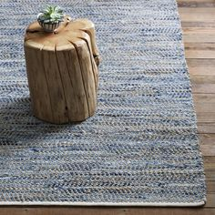 Recycled Denim Jute Rug