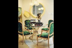 Green Dining Room Chairs | Photos | HGTV Canada fabric on chairs for curtains?
