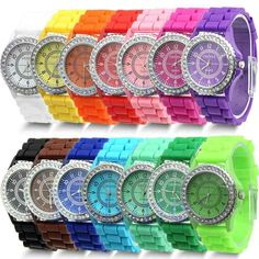 Candy Color Bling Watch