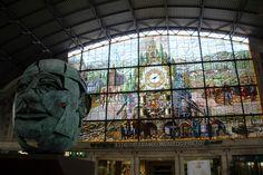 La vidriera de Abando, en Bilbao. Rutas Mar & Mon: Una escapada a Bilbao y alrededores, que hacer y ver.