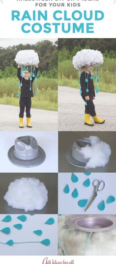 Rain Cloud Costume for Halloween. for kids 21 of the Funniest and Easiest Halloween DIY Gift Ideas for Your Kids Rain Cloud Costume for Halloween. for kids 21 of the Funniest and Easiest Halloween DIY Gift Ideas for Your Kids Halloween Mono, Diy Halloween Costumes For Kids, Holidays Halloween, Pirate Costumes, Women Halloween, Halloween Decorations, Halloween Recipe, Halloween Makeup, Halloween Crafts