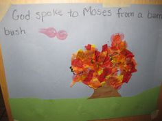 Moses and the burning bush - craft idea