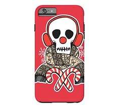 Stay Warm Holiday Skull iPhone 6 Plus Alizarin crimson Tough Phone Case - http://www.specialdaysgift.com/stay-warm-holiday-skull-iphone-6-plus-alizarin-crimson-tough-phone-case/