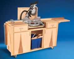 AW Extra - Mobile Miter Saw Stand - Woodworking Projects - American Woodworker