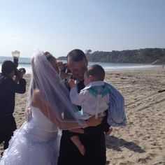 Salt creek beach wedding