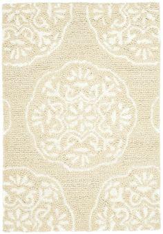 Safavieh Bella Handmade Wool Rug (BEL711), Beige/White