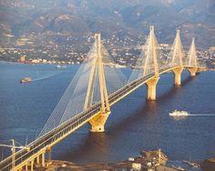 Beautiful Stunning Bridges Around The World.... Rio Antirio Bridge, Greece