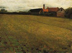 """Cecilia Beaux """"Landscape with Farm Building"""""""