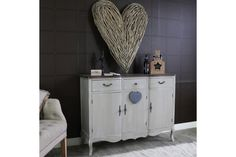 Large Ornate Grey Triple Sideboard Buffet Unit   French Grey Range photo 1 Country Style Living Room, French Country Style, Cupboard, Cabinet, Hallway Furniture, French Grey, Sideboard Buffet, Brass Handles, Dining Room