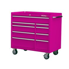 The Original Pink Box Garage Workshop Plans, Garage Workshop Organization, Organization Ideas, Purple Timberland Boots, Salon Cart, Rolling Tool Box, Diy Garage, Garage Storage, Commercial Kitchen